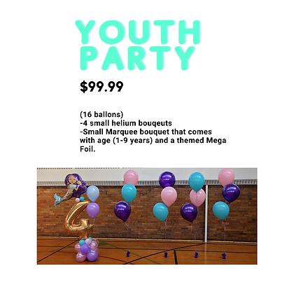 Youth Party Package