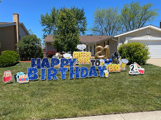 21st Birthday Display