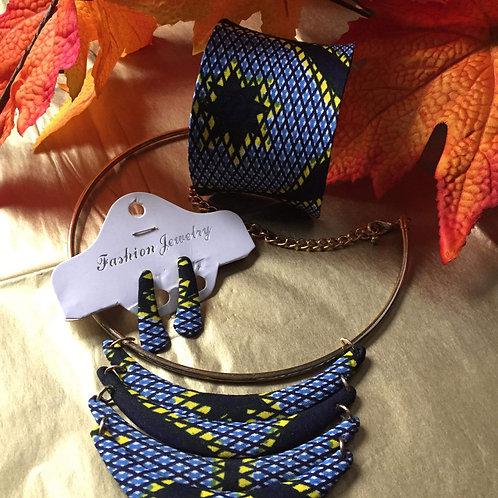 Ensemble bracelet -boucles et collier
