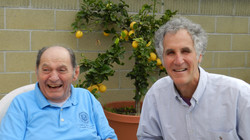 Tibor and writer Dan Cohen, 2014