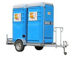 Portable Toilet Hire Brisbane - Double Trailer