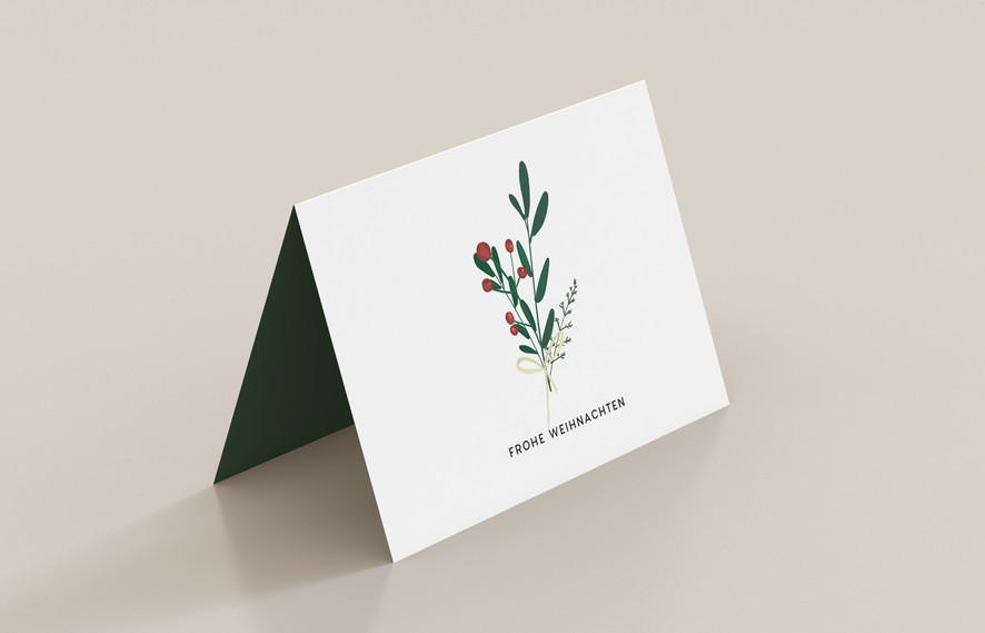 Weihnachtskarte skandinavisch