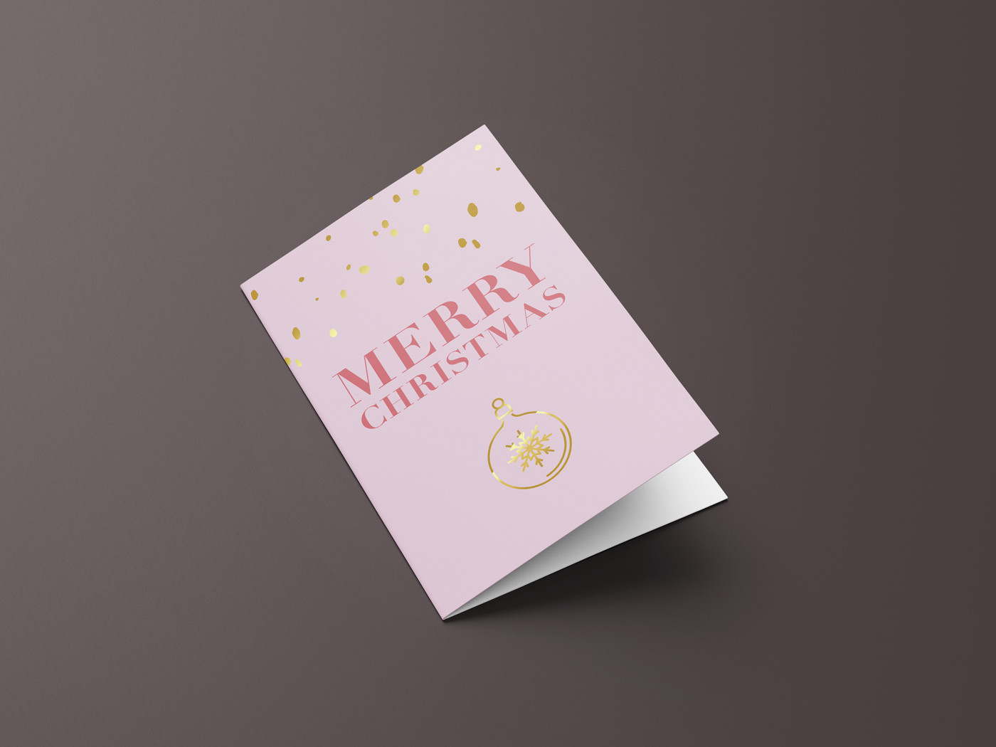 Weihnachtskarte feminin