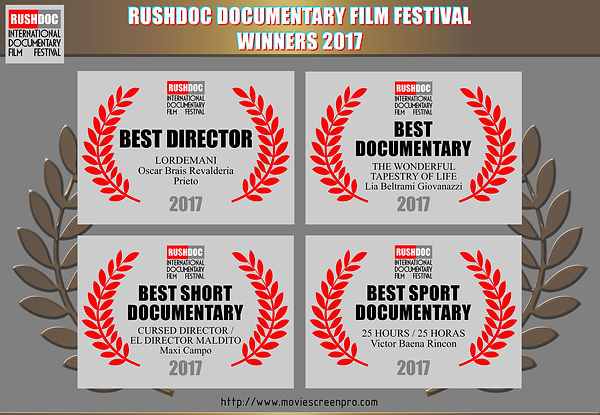 RushDoc Film Festival Winners 2017