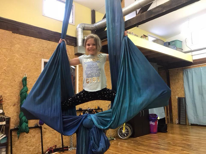 Aerial Yoga at Pittsburgh Circus Center