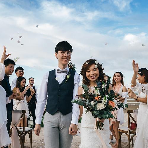 Bo-ho wedding in Thailand