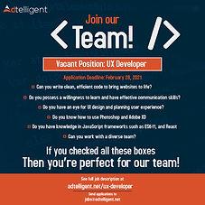 We Are Hiring: UX Developer