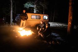 Casey loves campfires