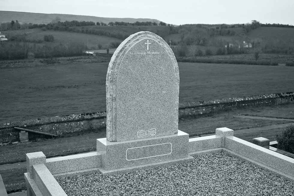 headstone kerb and chippings for grave