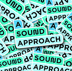 A sound approach sticker square.png