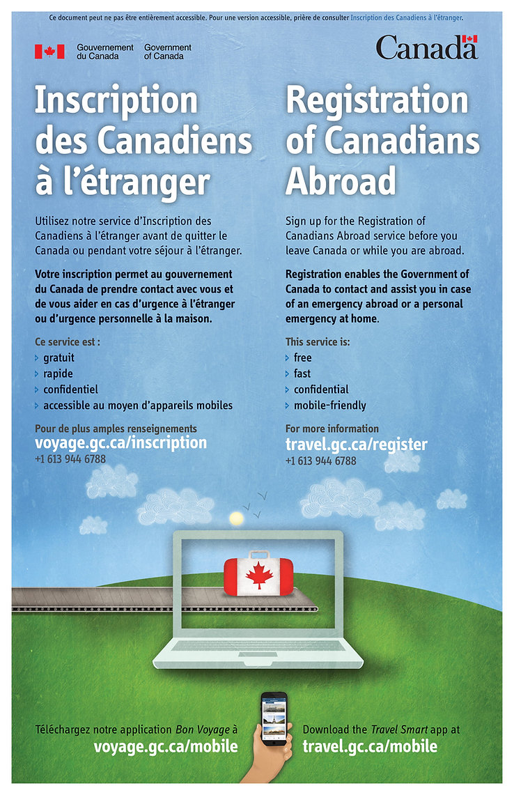 Inscription des canadiens à l'étranger Création voyge JM