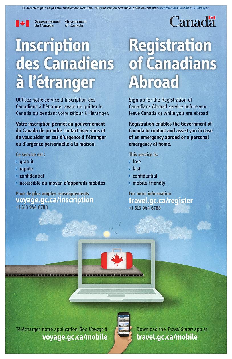 inscription des canadiens à l'étranger Création voyage JM