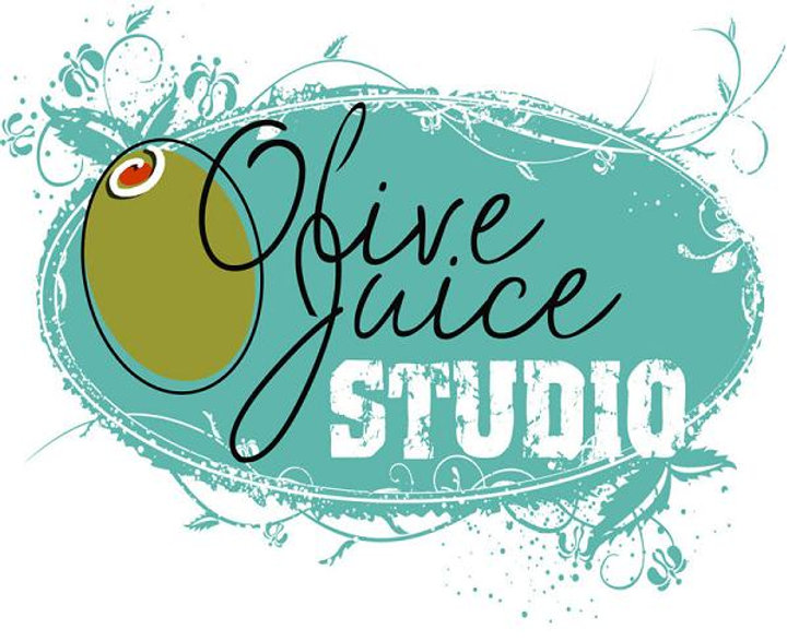 Olive Juice Studio White Logo Background