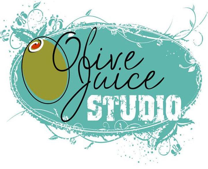 Olive Juice Studio White Logo Background