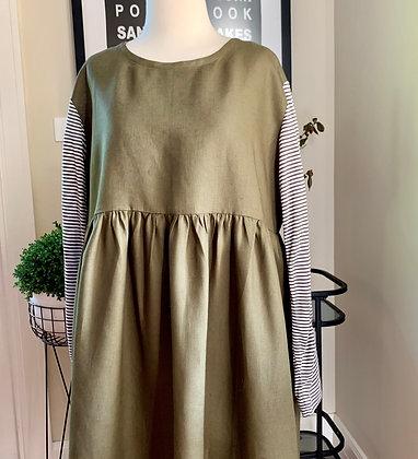 Nicola SIS | Olive Green linen
