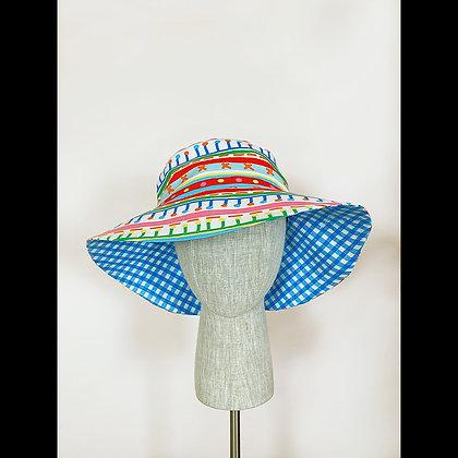 Ponytail hat : Geometric