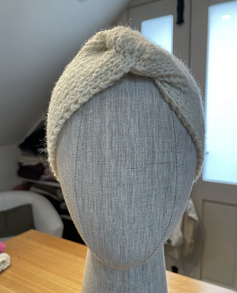Turban Style Ear Warmers - handknitted 100% wool