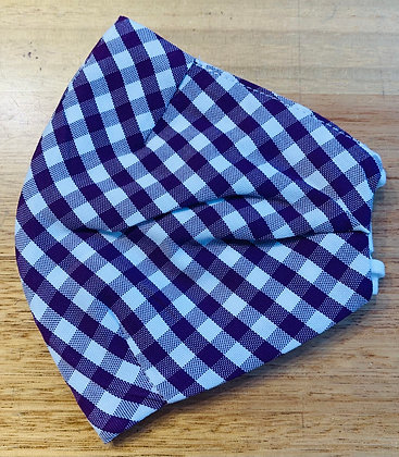 Face Mask : Purple Gingham