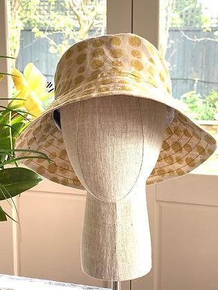 Bucket Hat - Gold Dot