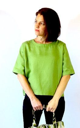 ARTY apple green linen top