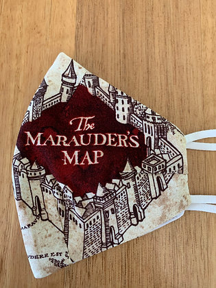 FaceMask : Harry Potter The Marauder's Map