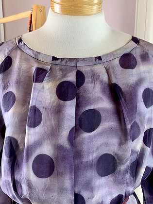Nancy blouse : Purple Silk