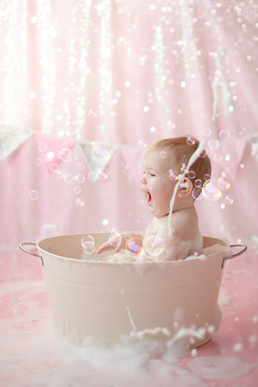 sunshine, glitter and bubbles makes a perfect bath