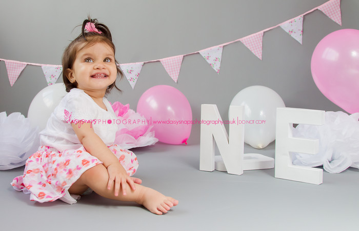 Beautiful Pink Cake Smash Photo Shoot - Gravesend Cake Smash l Kent l Baby & Child Lifestyle Pho