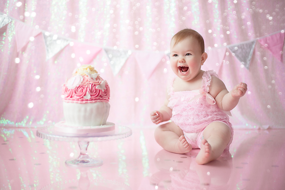 cake smash and splash for 1st birthday