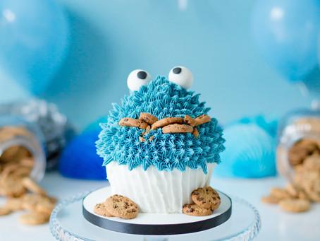 Amazing Cookie Monster Cake Smash | #cakesmashlondon