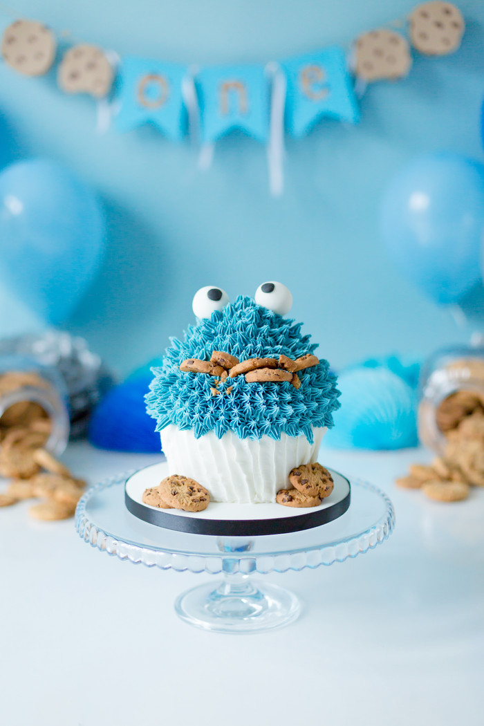 Amazing Cookie Monster Cake Smash | #cakesmashlondon