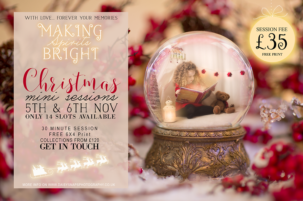 christmas mini sessions, christmas photo sessions, snow globe christmas