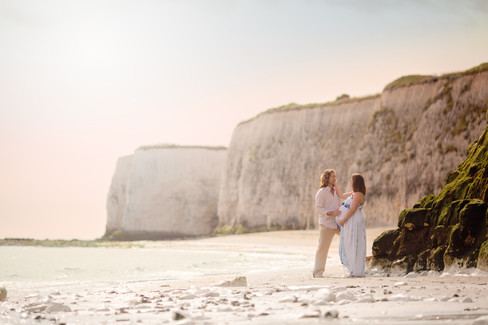 Beach Maternity Shoot - Couples