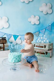 Blue fluffy cloud cake samsh in gravesend