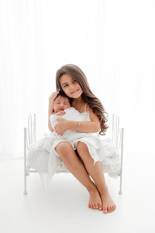 Pure White Newborn Photo shoot