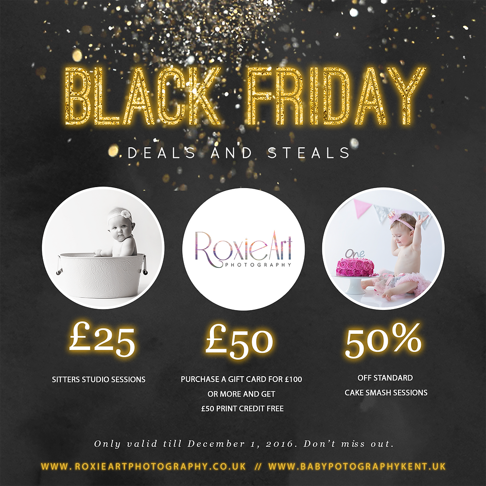 black friday, Sitters sessions, Gift Cards and Cake Smash Photography