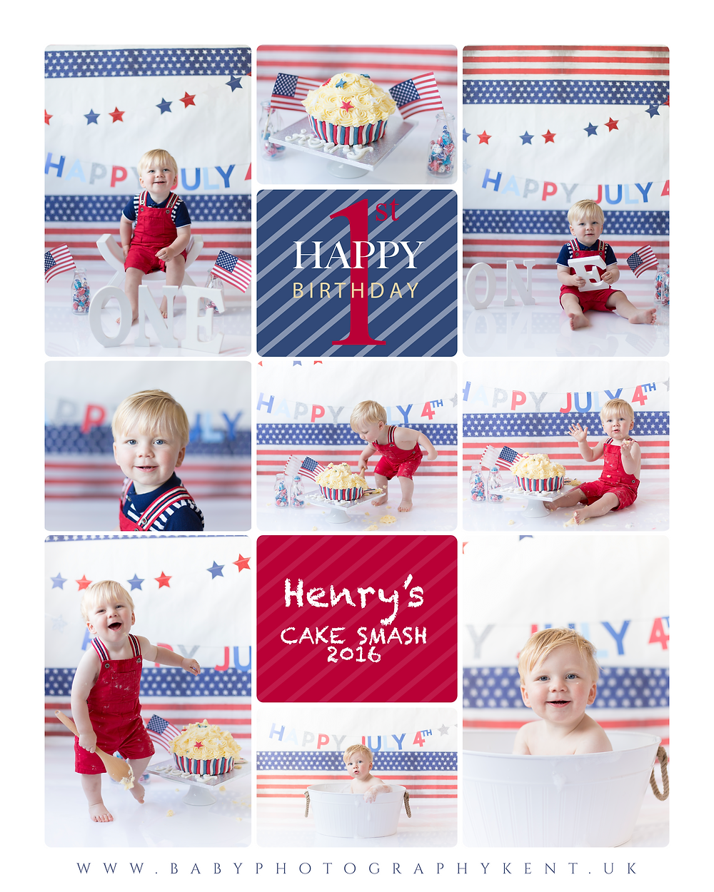 4th of july themed cake smash,cake smash photography, photographers in kent, cake smash & splash, baby photography kent, photographers kent