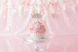 Pink sparkly Princess cake smash