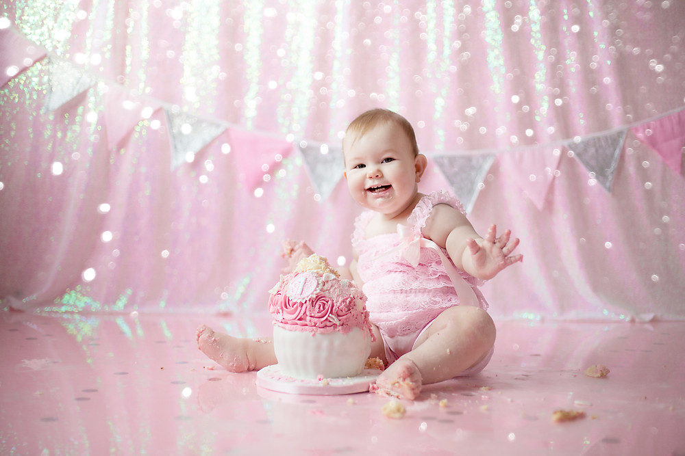 have your little one explore with textures, book a cake smash and splash for 1st birthdays