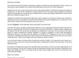 "Our Publisher Demands that US Senators Stop Using the Racist Term ""Marijuana"""