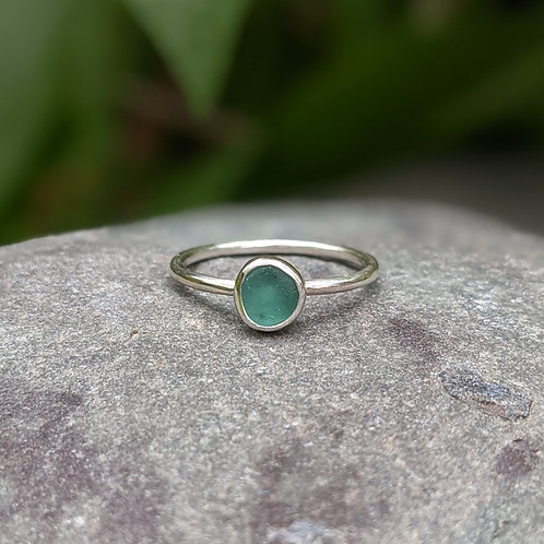 Pick your own seaglass ring 1.5mm