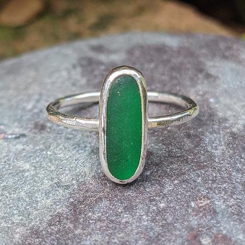 Green Ringstead Seaglass Bean Ring
