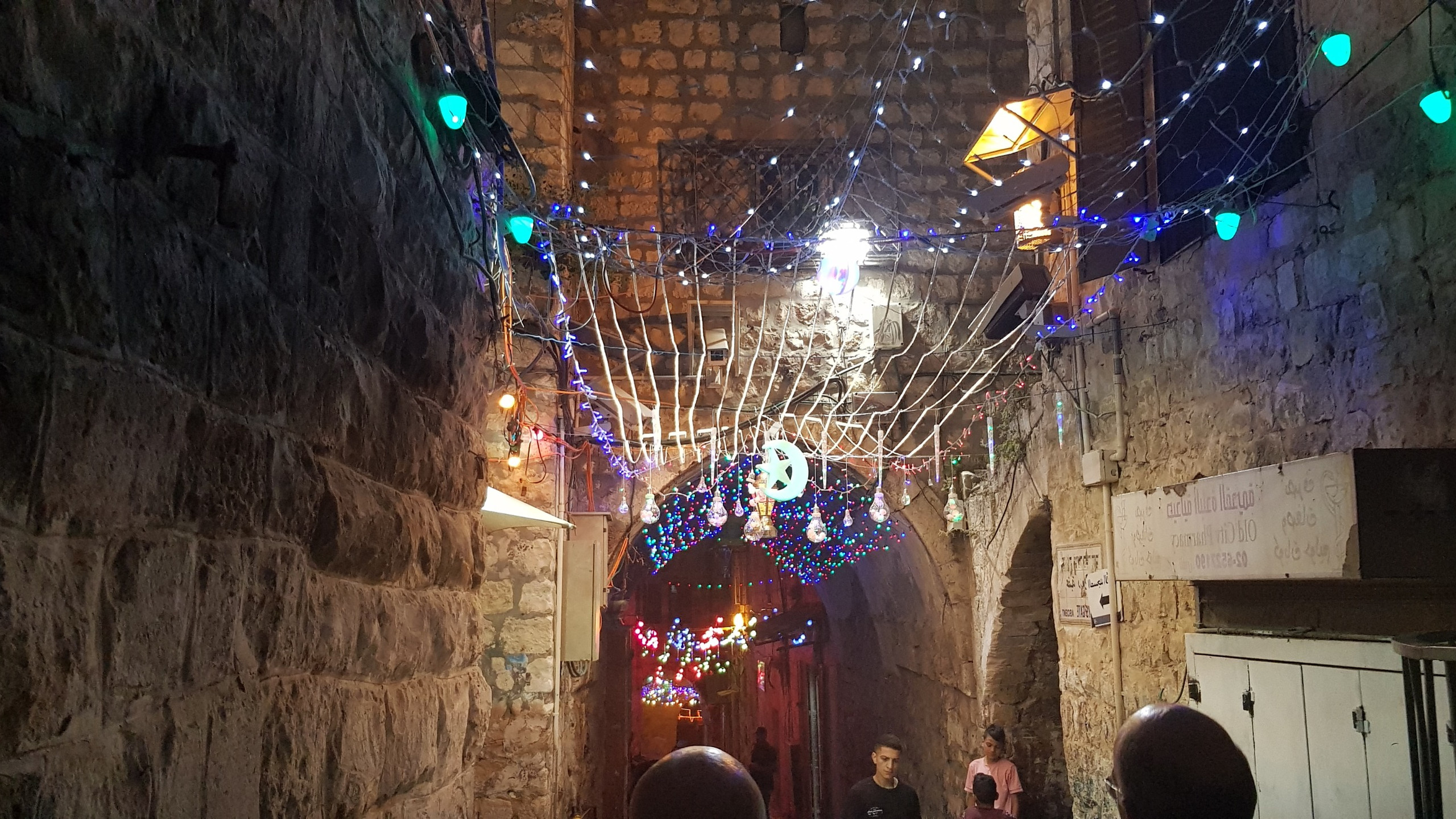 Lights in the old city of Jerusalem