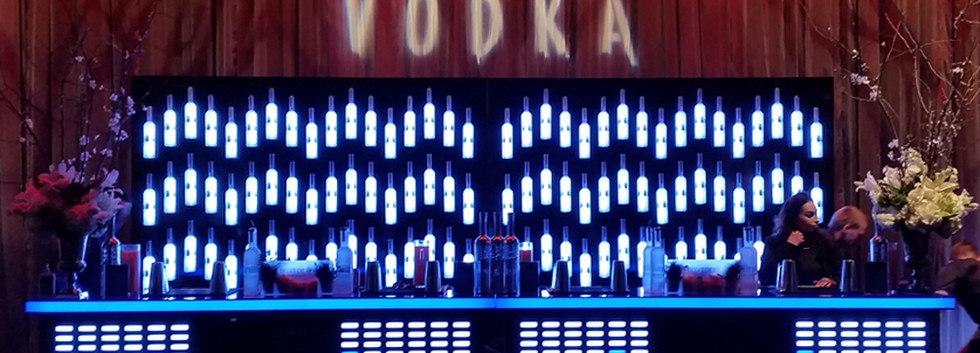 Belvedere Vodka Sound Reactive Equilizer Bar and Bottle Wall