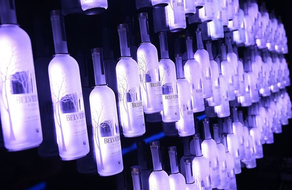 Belvedere Bottle Wall