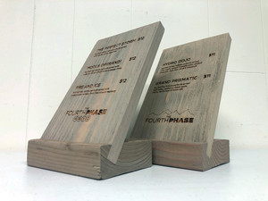 The Fourth Phases Wooden Menus