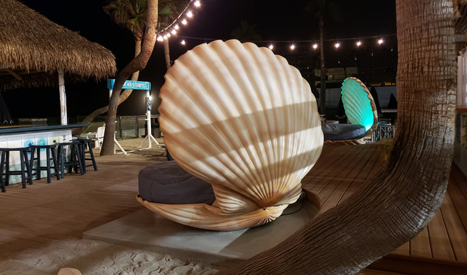 The Beach House Grill Clamshell Seats