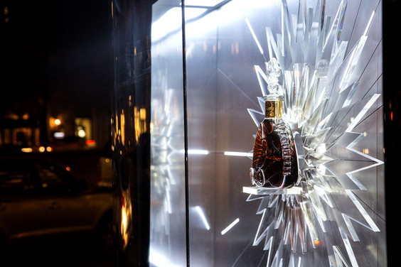 Louis XIII Sherry Lehmann Acrylic Starburst Commercial Window Display