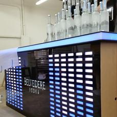Belvedere Equilizer Bar & Bottle Wall Build