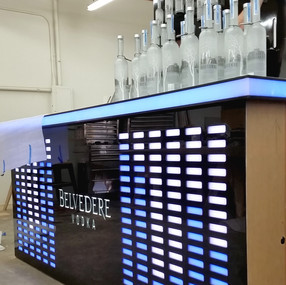 Belvedere Equilizer Bar & Bottle Wall Build
